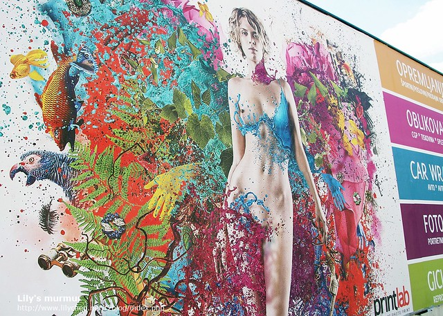 就以這張在路邊拍到的色彩繽紛香辣(誤)美女作為本篇結尾,告別Ljubljana囉!