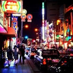 夜の街を…
