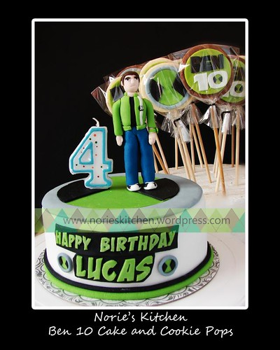 Norie's Kitchen - Ben 10 Alien Force Cake and Cookie Pops
