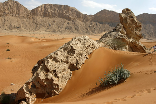 Fujairah, a small Arab Emirate, famous for it's red sand dunes
