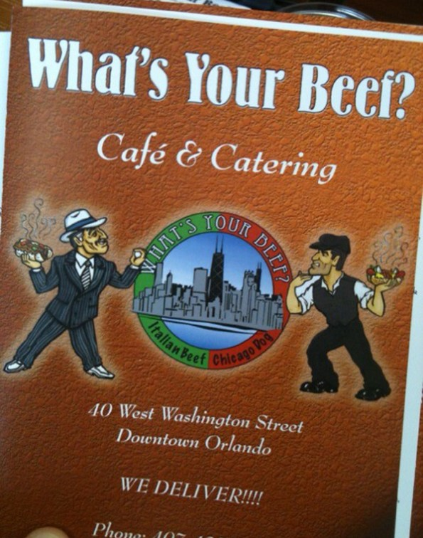What's Your Beef? Menu