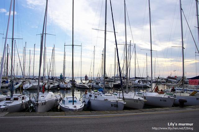 往Piran鎮上走去,路邊的遊艇也很搶戲。