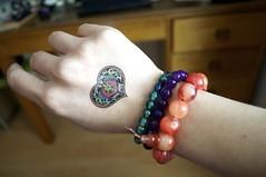 Bracelets & Fake Tattoos - Right Hand