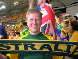 Socceroos fan