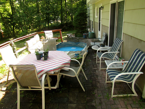 Cleaned up back patio