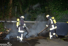 Mülltonnenbrand Konrad-Duden-Schule 25.07.10