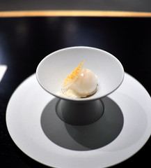 10th Course: sweet rice sorbet