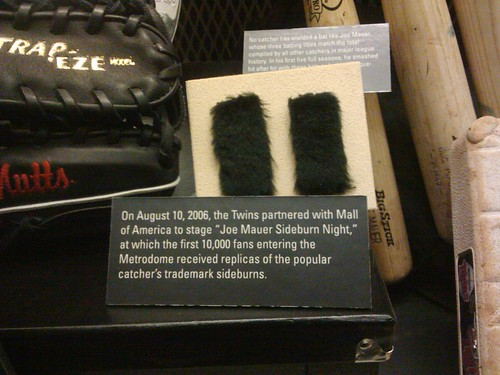 joe mauer's sideburns in the hall of fame