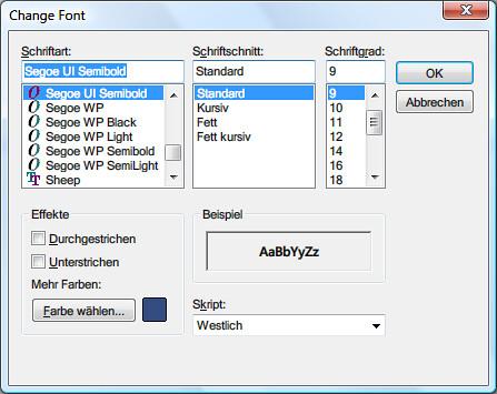 Messenger: Choose your font