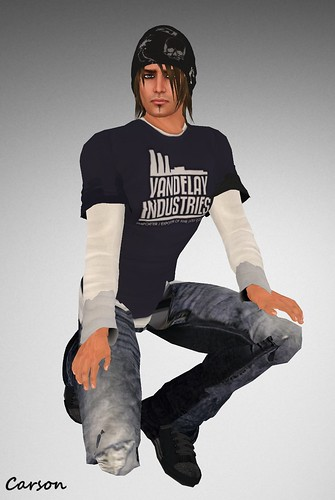 H.I.M. Fashion Slacker Jeans, Vandelay Shirt  & Fashion Beanie