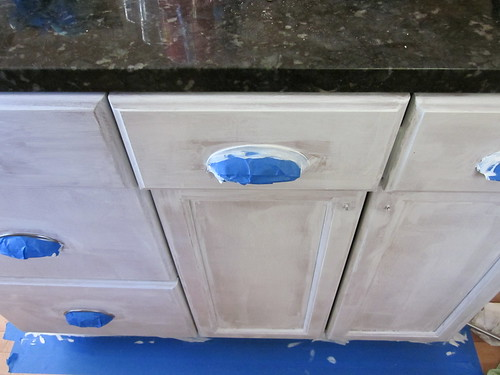 Painting the lower cabinets