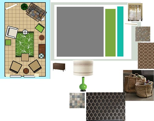 mood board for fam room