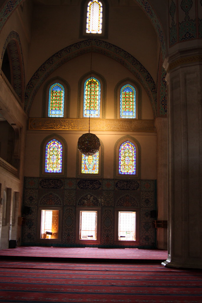 Kocatepe Mosque windows