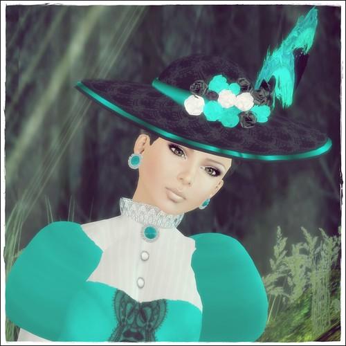 Hatpins - Lady Effie - Seafoam - HDH