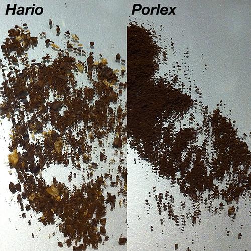 Hario Mini Mill vs Porlex grinds