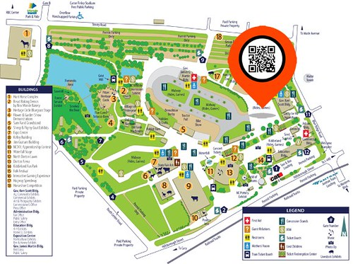 2010 North Carolina State Fair with QR Codes for scavenger hunt