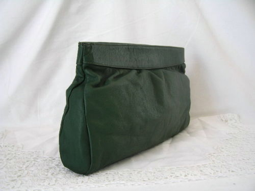 Clutch Green Leather Capricio 1