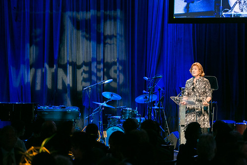 Board President Regan Ralph speaks at at WITNESS' 25th Anniversary Benefit