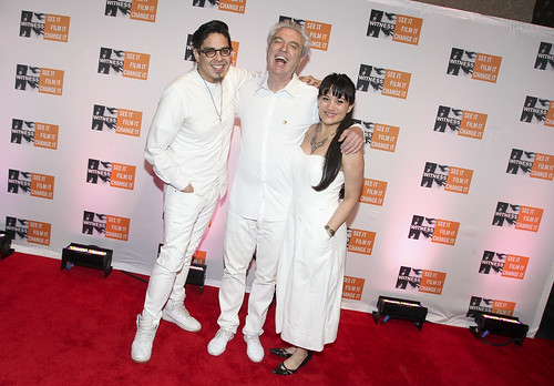 David Byrne, George Salazar and Diane Phelan