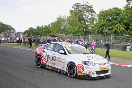 Daniel Lloyd on the BTCC grid at Oulton Park, May 2017