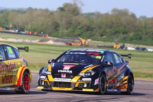 Matt Neal at the Thruxton BTCC Round, May 2017