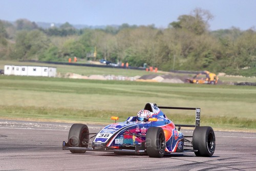 Jamie Caroline in British Formula Four at Thruxton, May 2017