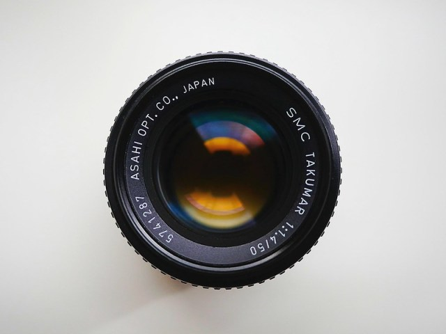 Takumar 50mm f1.4, manual focus lens.
