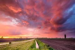 Colored rain clouds