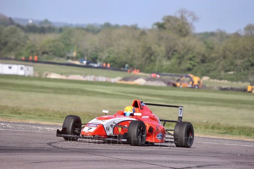 Alex Quinn in British Formula Four at Thruxton, May 2017