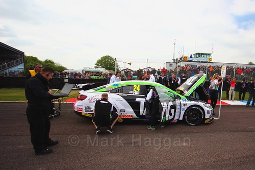 Jake Hill on the grid at the Thruxton BTCC weekend, May 2017