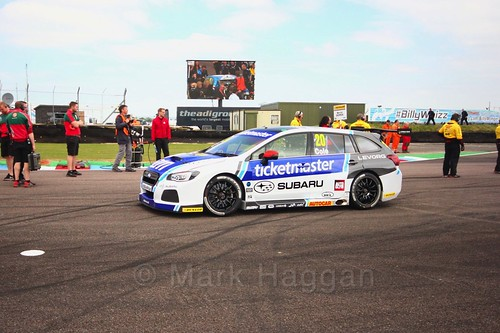James Cole at the Thruxton BTCC weekend, May 2017