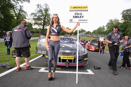 Chris Smiley on the BTCC grid at Oulton Park, May 2017