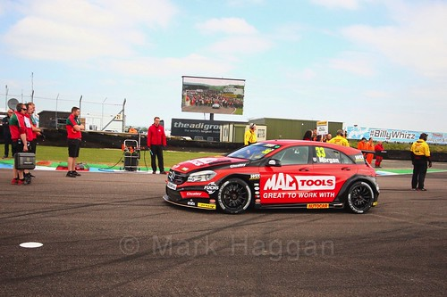 Adam Morgan at the Thruxton BTCC weekend, May 2017