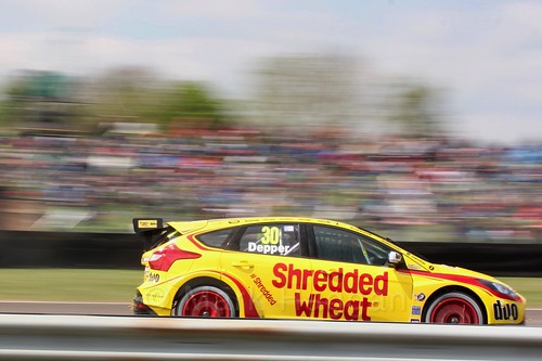 Martin Depper at the Thruxton BTCC round, May 2017