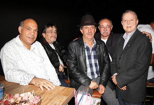 Carlos Roberto, Jair Zanela, Lauro Fonseca, João Drummond e José Maria Facundes - Foto Wolmer Ezequiel