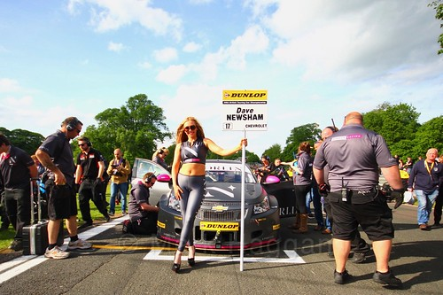 Dave Newsham on the BTCC grid at Oulton Park, May 2017