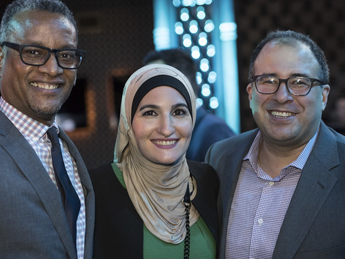 Vince Warren, Linda Sarsour and Baher Azmy