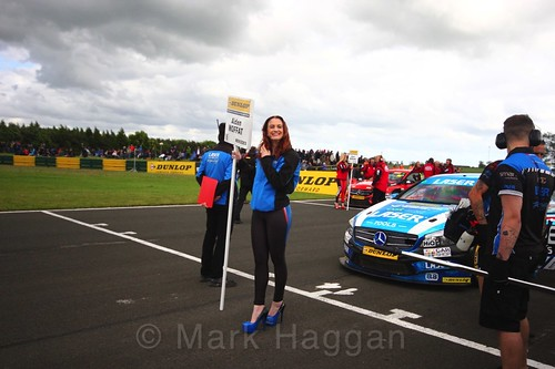 Aiden Moffat on the BTCC grid at Croft, June 2017