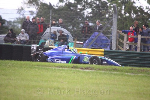 Patrik Pasma in British F4 during the BTCC weekend at Croft, June 2017
