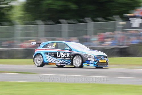 Aiden Moffat in BTCC action at Oulton Park, May 2017