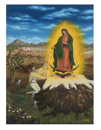 Autor: FIDEL SERAPIO BLAS BALDERAS, Santa María de Guadalupe Emperatriz de América  60 x40 cm
