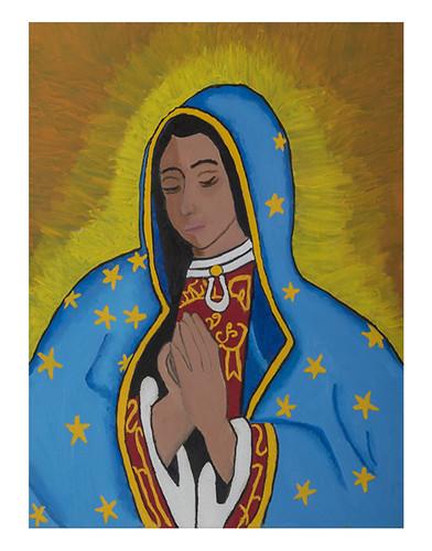 Autor: ROSARIO ELENA MILLAN, Madre amada de todos  60x50 cm