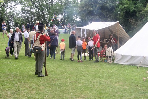 The Coldstream Guards Foot Regiment 1815 camp at the Moira Canal Festival 2017