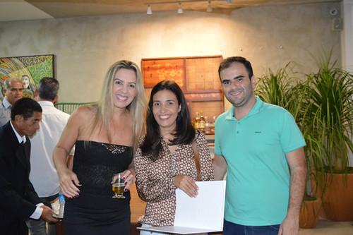 Cláudia, Licinea Berdague e Deivison Barbosa
