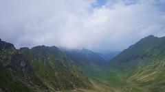 Vedere spre nord din șaua Ucișoara