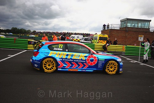 Andrew Jordan on the grid during the BTCC weekend at Croft, June 2017