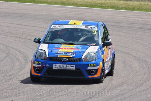 Harry Gooding in the Fiesta Junior championship at Rockingham, June 2017
