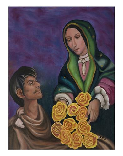 Autor: PERLA FABIOLA ESPINOZA VEGA, Amor y colores  60x50 cm