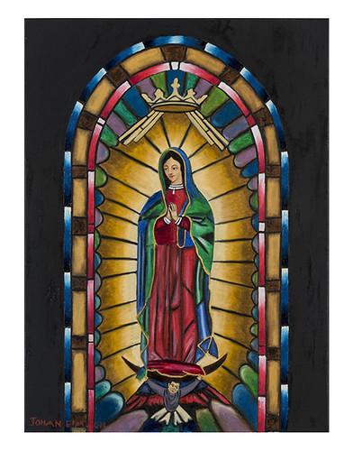 Autor: JOHAN ERIK MORENO CHAVEZ, Virgen de Guadalupe  40x50 cm
