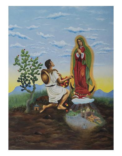 Autor: OMAR RIOS MARTINEZ, Este cerrito elijo para hacer mi altar  40x30 cm